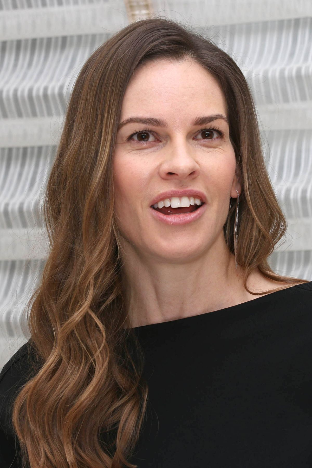 HILARY SWANK at Trust Press Conference in New York 03/20 ...