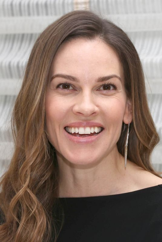 HILARY SWANK at Trust Press Conference in New York 03/20/2018
