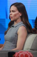 HILARY SWANK on the Set of Good Morning America in New York 03/19/2018