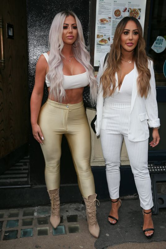 HOLLY HAGAN and SOPHIE KASAEI at Charlotte Crosby TV Show Launch in London 03/28/2018