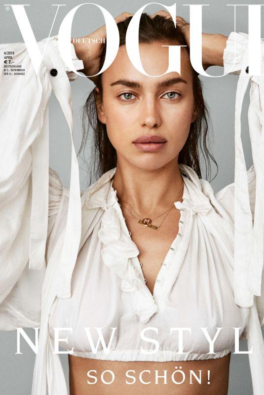 IRINA SHAYK for Vogue Magazine, Germany April 2018