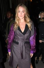 ISKRA LAWRENCE Arrives at Off-white Fashion Show in Paris 03/01/2018