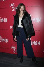 JAC SUMMERS at Love, Simon Premiere in New York 03/08/2018