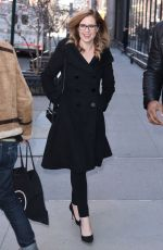 JENNA FISCHER Arrives at Build Series in New York 03/23/2018