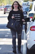 JENNIFER LOVE HEWITT in Ripped Jeans Out in Santa Monica 03/23/2018