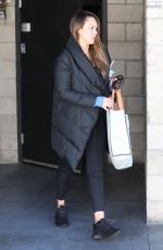JESSICA ALBA Leaves a Gym in Los Angeles 02/28/2018