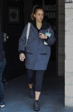 JESSICA ALBA Leaves a Gym in Los Angeles 03/07/2018
