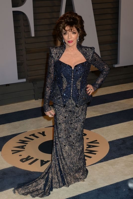 JOAN COLLINS at 2018 Vanity Fair Oscar Party in Beverly Hills 03/04/2018