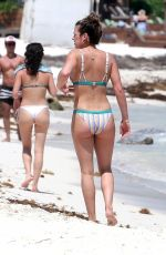 JOJO FLETCHER and BECCA TILLEY in Bikinis at a Beach in Mexico 03/21/2018