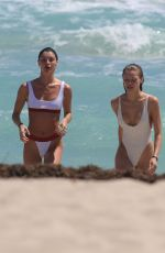 JOSIE CANSECO and BELLA BANOS in Swimsuits on the Beach in Miami 03/28/2018