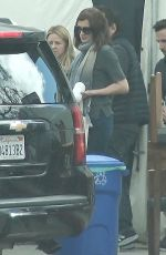 JULIA ROBERTS on the Set of Homecoming in Los Angeles 03/16/2018