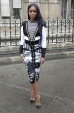 JUSTINE SKYE at Balmain Fashion Show at Paris Fashion Week 03/02/2018