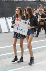 KAIA GERBER at March for Our Lives Rally in Los Angeles 03/24/2018