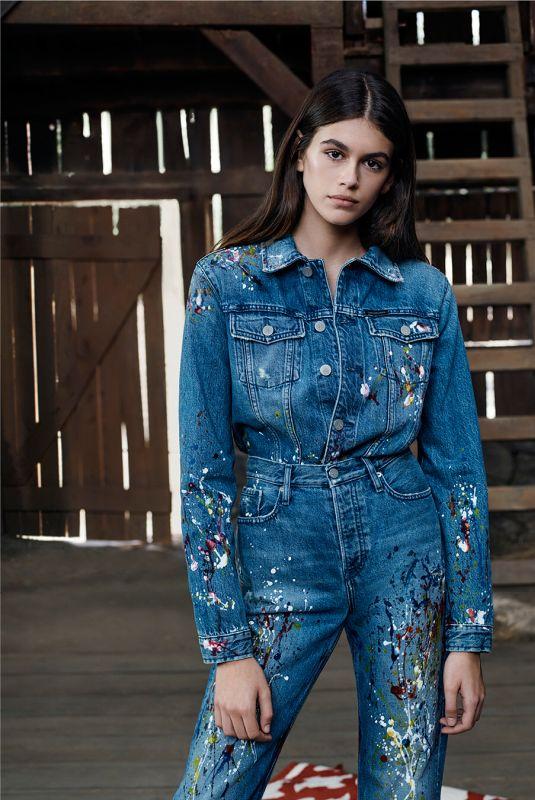 KAIA GERBER for #mycalvins Calvin Klein Jeans Spring 2018 Campaign