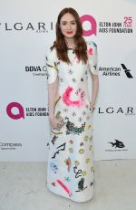 KAREN GILLAN at Eton John Aids Foundation Academy Awards Viewing Party in Los Angeles 03/04/2018