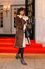KARINE LE MARCHAND Leaves Four Seasons Hotel in Paris 03/19/2018