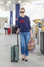 KARLIE KLOSS Arrives at JFK Airport in New York 03/16/2018