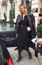 KARLIE KLOSS Leaves Her Hotel in Paris 03/04/2018