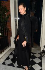 KATE MOSS at Mark's Club in London 03/22/2018
