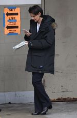 KATIE HOLMES on the Set of New Fox FBI Drama in Chicago 03/27/2018