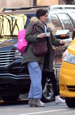 KATIE HOLMES Out in New York 03/05/2018