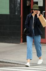 KATIE HOLMES Out Shopping in New York 03/01/2018