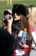 KATIE PRICE at Celebrity Football Match at Cheltenham Town Football Club in London 03/25/2018