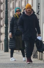 KATY PERRY and Orlando Bloom Out in Prague 02/28/2018