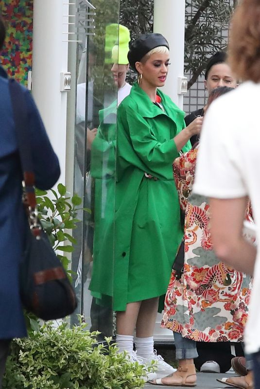KATY PERRY Out and About in Tokyo 03/29/2018