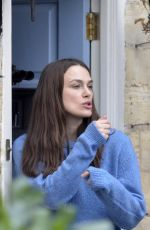 KEIRA KNIGHTLEY on the Set of Official Secrets in Wetherby 03/18/2018