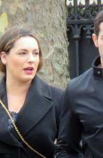 KELLY BROOK and Jeremy Parisi Out in Paris 03/30/2018