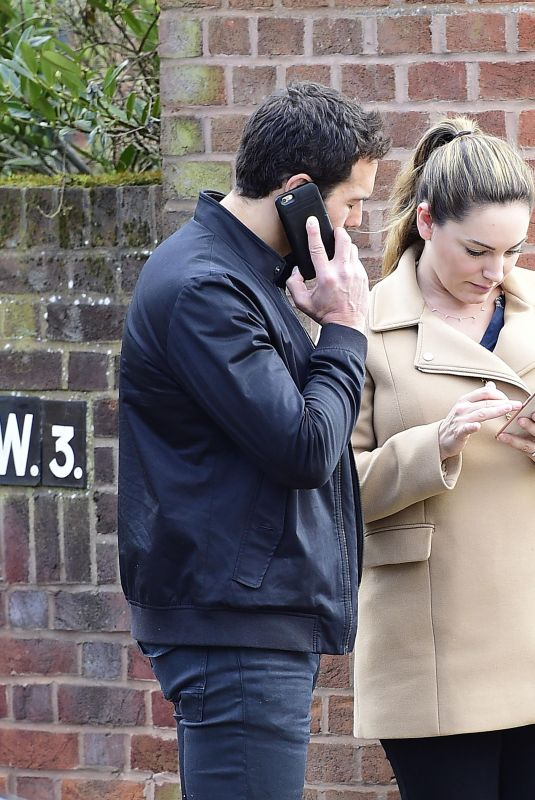 KELLY BROOK Out and About in London 03/26/2018