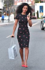 KELLY ROWLAND Shopping at Neiman Marcus in Beverly Hills 03/28/2018