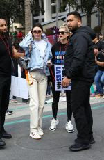 KENDALL JENNER and HAILEY BALDWIN Marches at Anti-gun March for Our Lives Rally in Los Angeles 03/24/2018