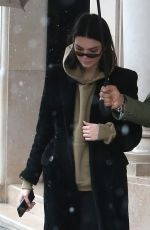 KENDALL JENNER Arrives at Her Hotel in Paris 03/19/2018