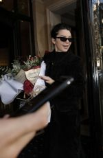 KENDALL JENNER Arrives at Her Hotel in Paris 03/20/2018