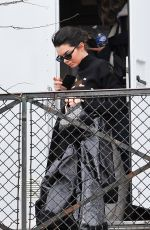 KENDALL JENNER on the Set of a Advertisement in Paris 03/20/2018