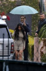 KIM KARDASHIAN Arrives at Khloe Kardashian's Baby Shower in Los Angeles 03/10/2018