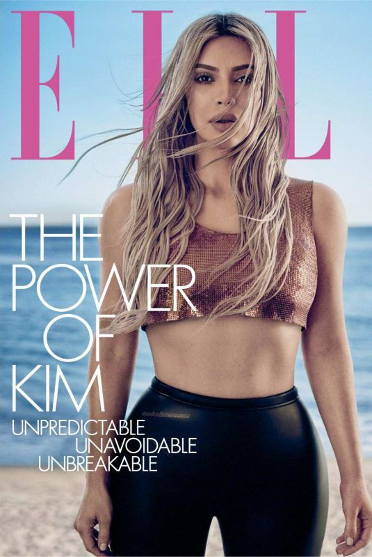 KIM KARDASHIAN in Elle Magazine, April 2018