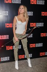KIMBERLEY GARNER at Tomb Raider Themed Escape the Room in London 03/08/2018
