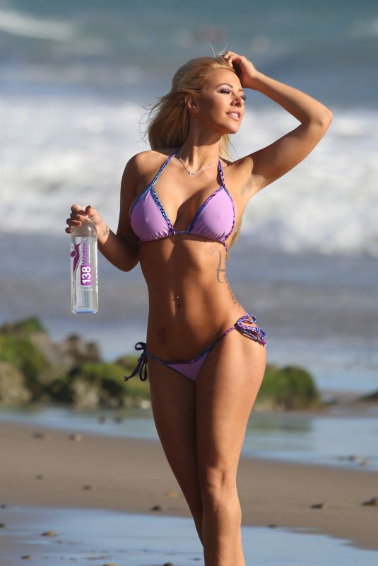 KINDLY MYERS in Bikini for 138 Water Photoshoot in Malibu 03/12/2018