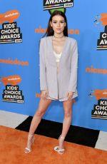 KIRRILEE BERGER at 2018 Kids' Choice Awards in Inglewood 03/24/2018