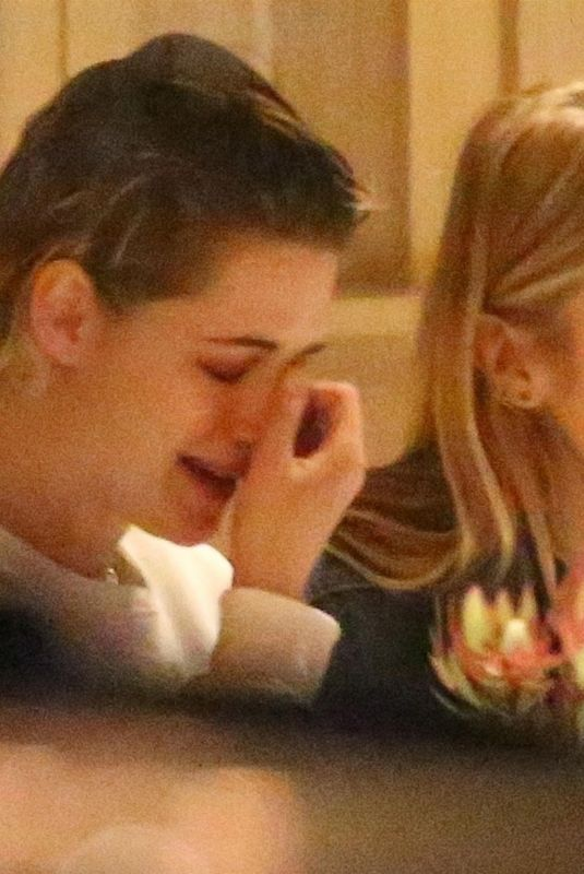 KRISTEN STEWART and STELLA MAXWELL Out for Dinner in Los Angeles 03/21/2018