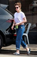 KRISTEN STEWART at Mustard Seed Cafe in Los Feliz 03/09/2018