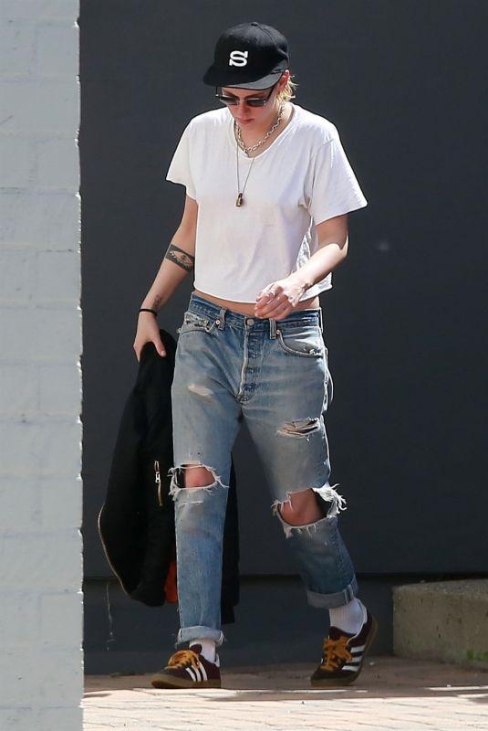 KRISTEN STEWART in Ripped Jeans Out in Los Angeles 03/19/2018