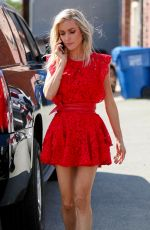 KRISTIN CAVALLARI in a Red Dress Arrives at a Studio in Los Angeles 03/01/2018