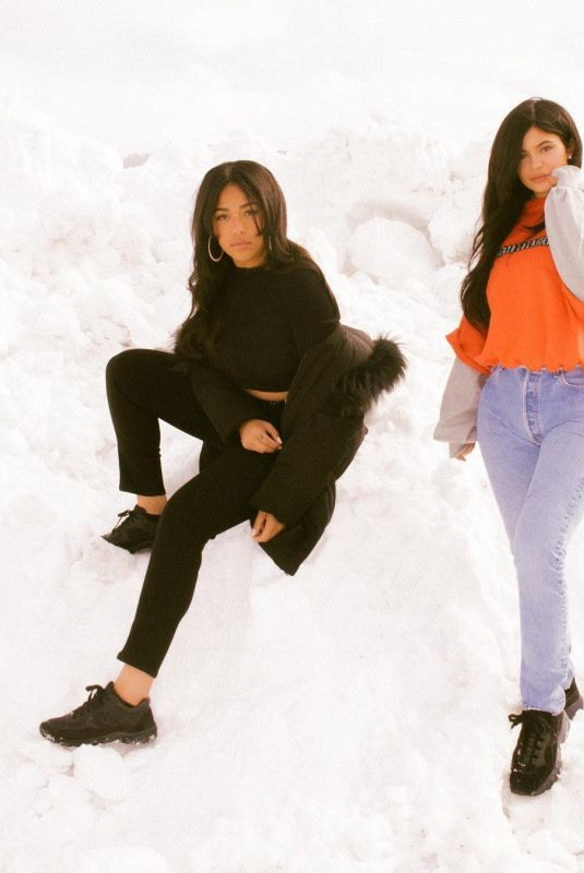 KYLIE JENNER and JORDYN WOODS in Wyoming, March 2018 Instagram Pictures