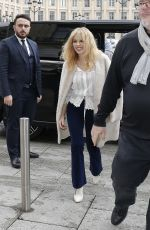 KYLIE MINOGUE Arrives at Her Hotel in Paris 03/19/2018