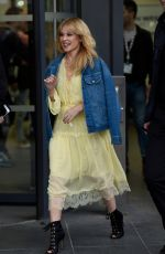 KYLIE MINOGUE Arrives at Quay House in Salford 03/23/2018