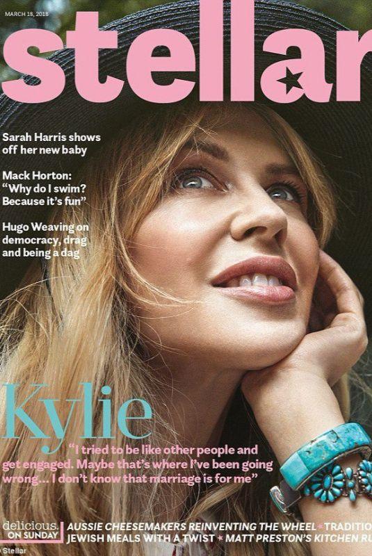 KYLIE MONOGUE in Stellar Magazine, March 2018 Issue